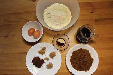 Ingredientes de Galletas de Miel
