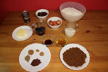 Ingredientes Torta Negra