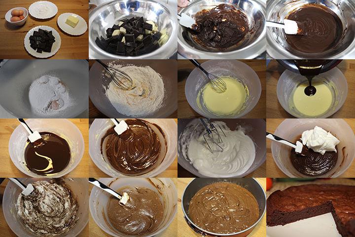 Pasos Bizcocho de Chocolate Sin Gluten