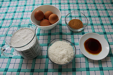Ingredientes Quesillo de Coco
