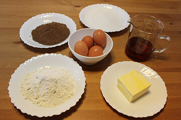 Ingredientes Bizcocho de Chocolate Tradicional