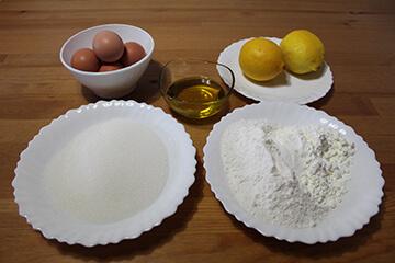 Ingredientes de Bizcocho de Limón Sin Gluten y Sin Lactosa