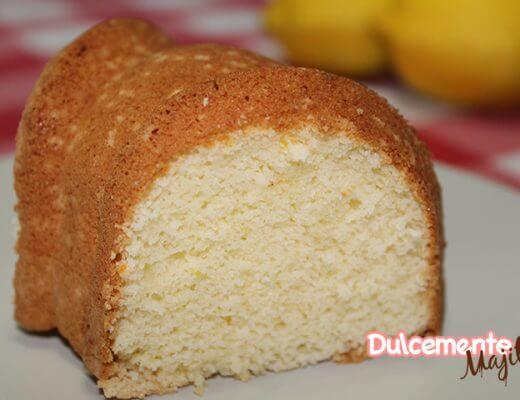 Bizcocho de Limón Sin Gluten y Sin Lactosa