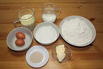 Pan de Coco y Leche Condensada Ingredientes