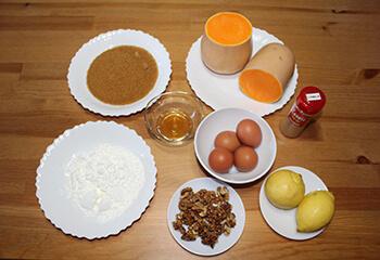 Tarta de Calabaza Ingredientes